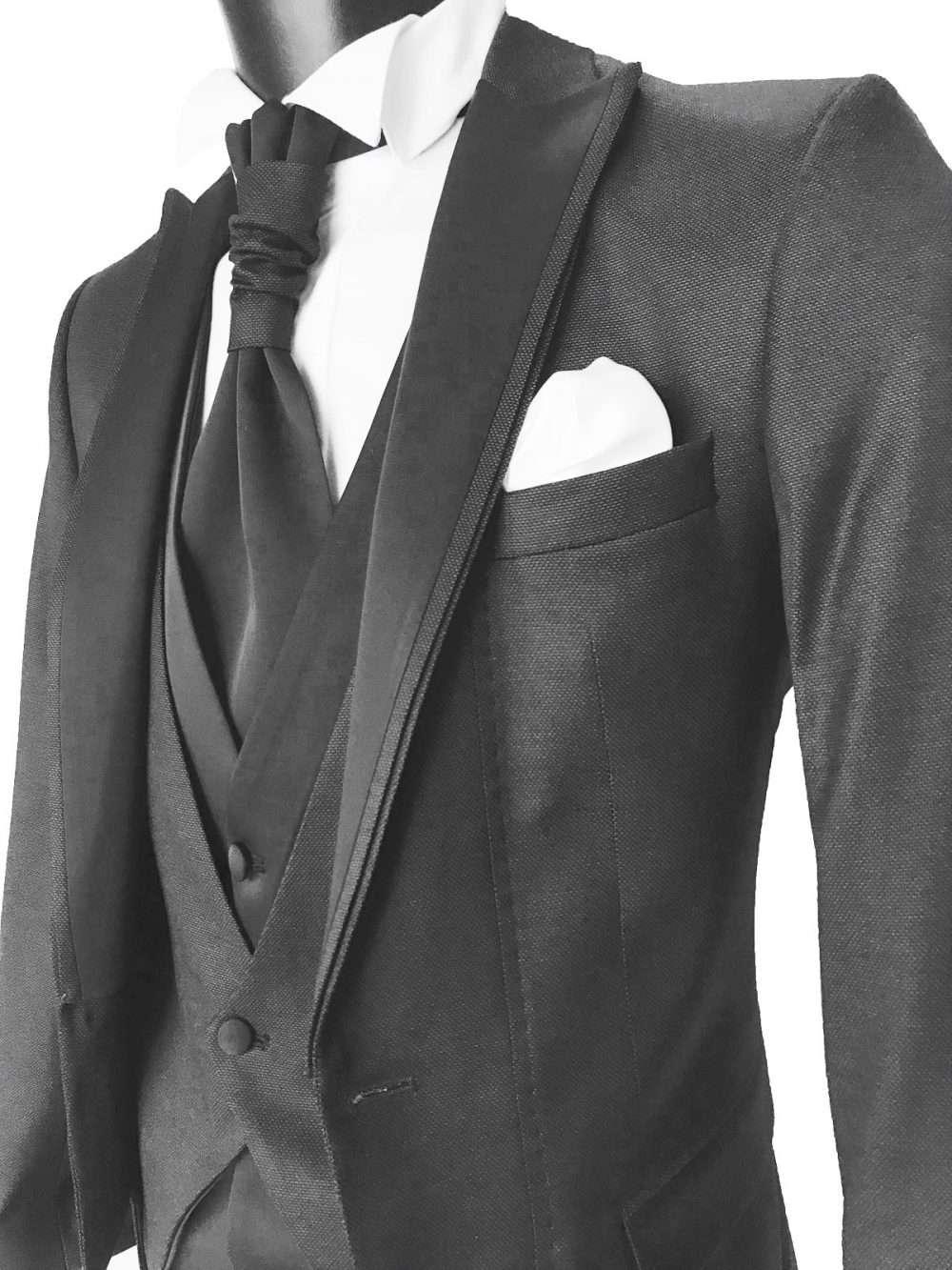 foto Abito da Sposo modello tight vestibilità slim fit Jon colore grigio