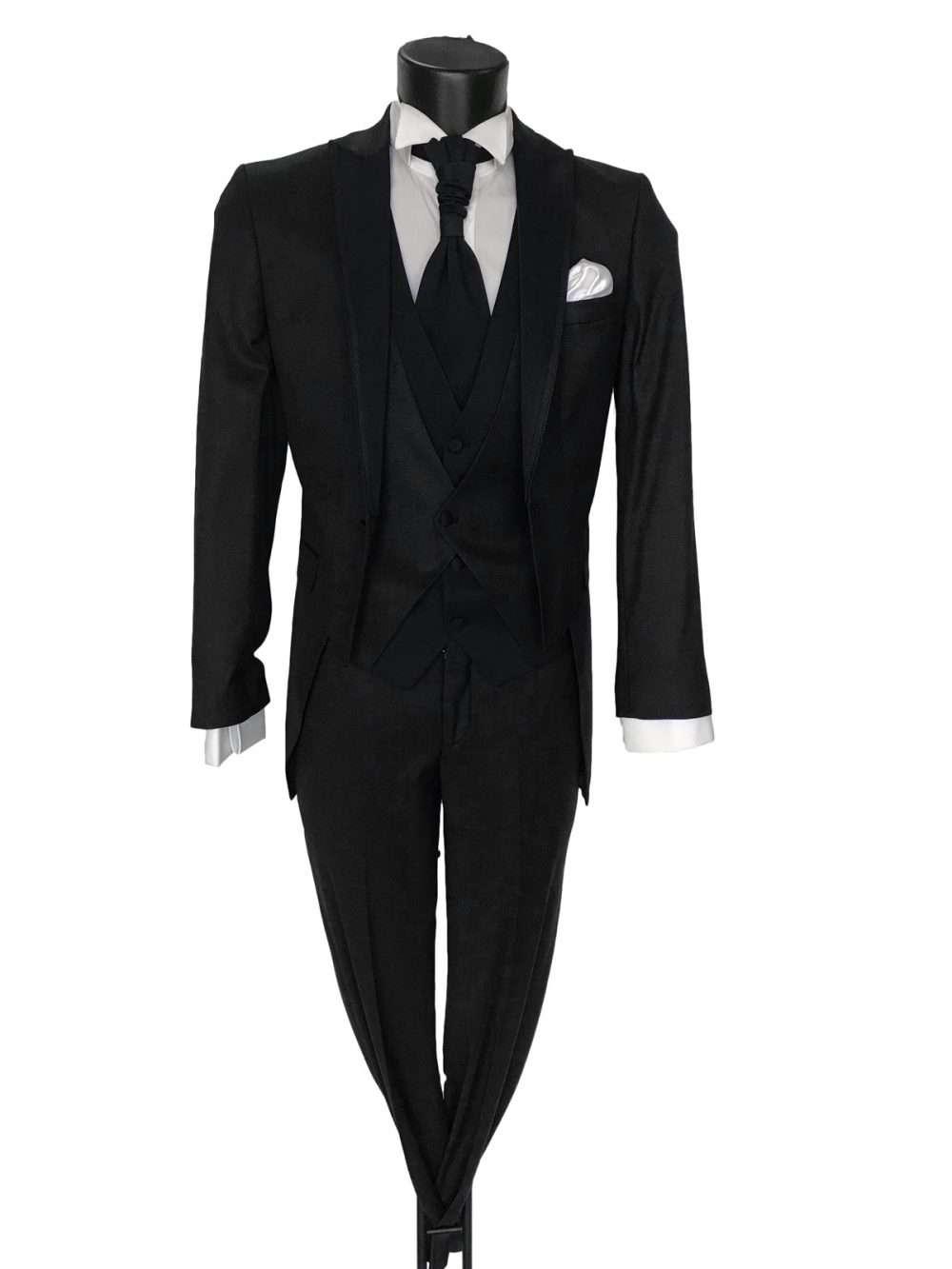 Foto Abito da Sposo modello tight vestibilità slim fit Jon colore nero